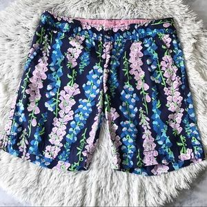 Lilly Pulitzer Floral Chipper Bermuda Shorts EUC
